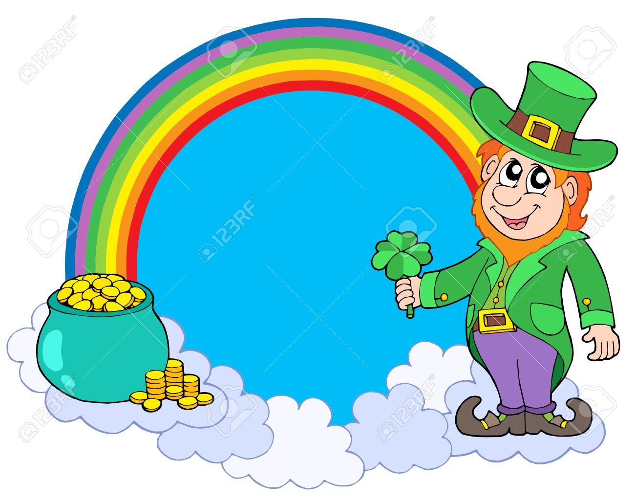Uncategorized Leprechauns And Rainbows rainbow circle with leprechaun vector illustration royalty free stock 4182476