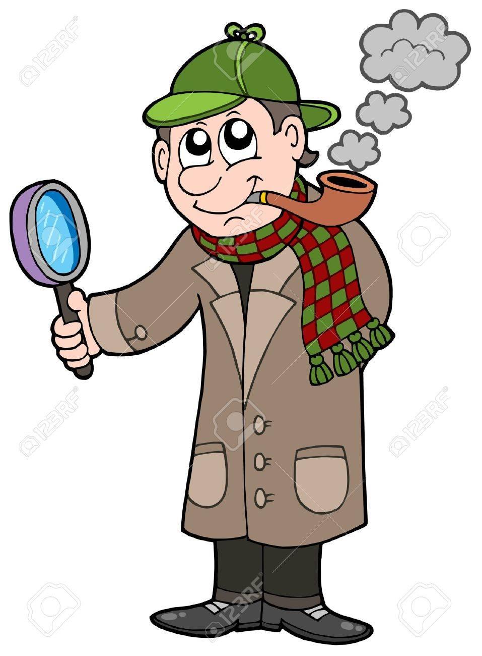 Cartoon detective - vector illustration. Stock Vector - 4193151