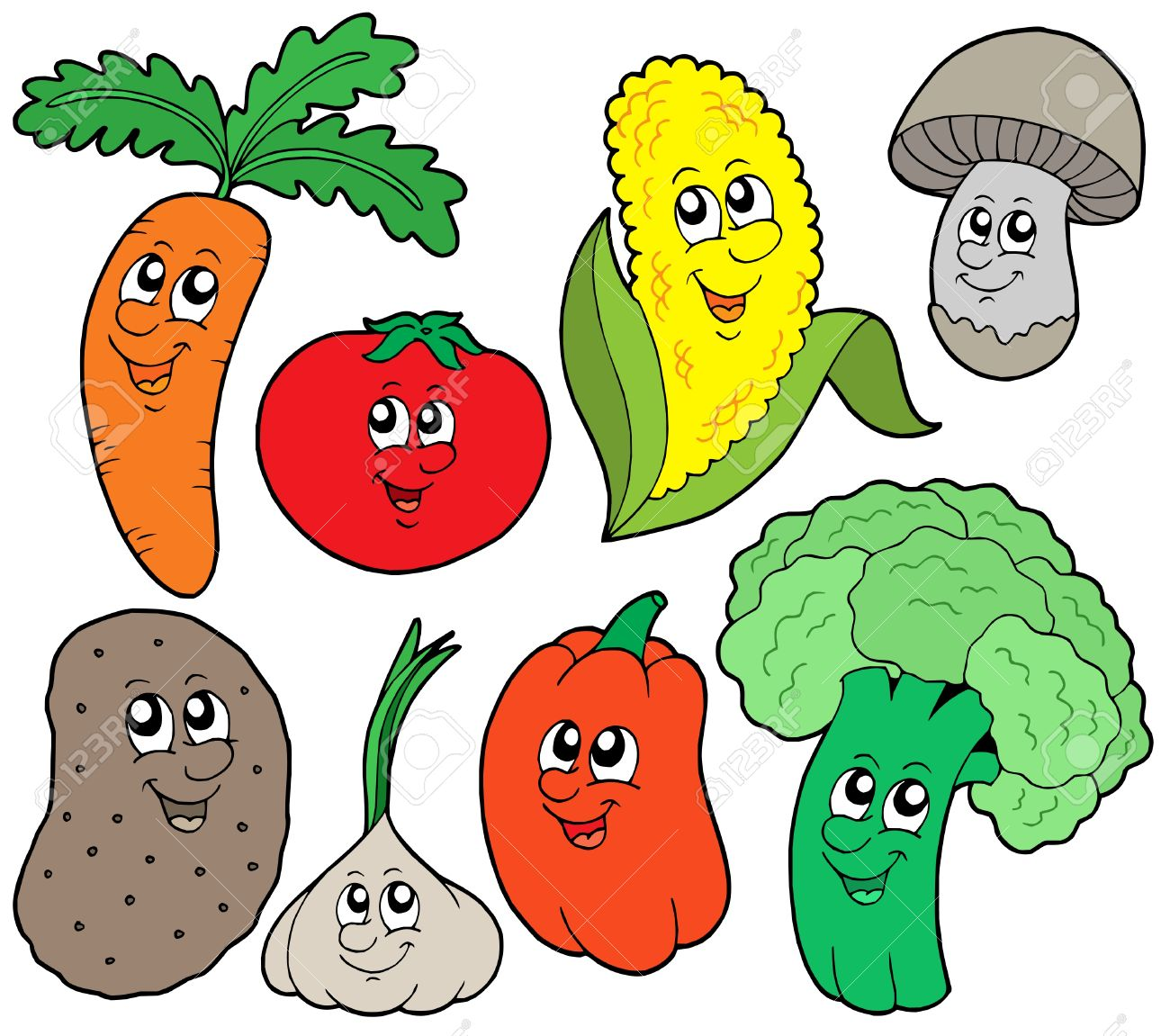 Colección de dibujos vegetales 1 - ilustración vectorial. Foto de archivo - 4215698