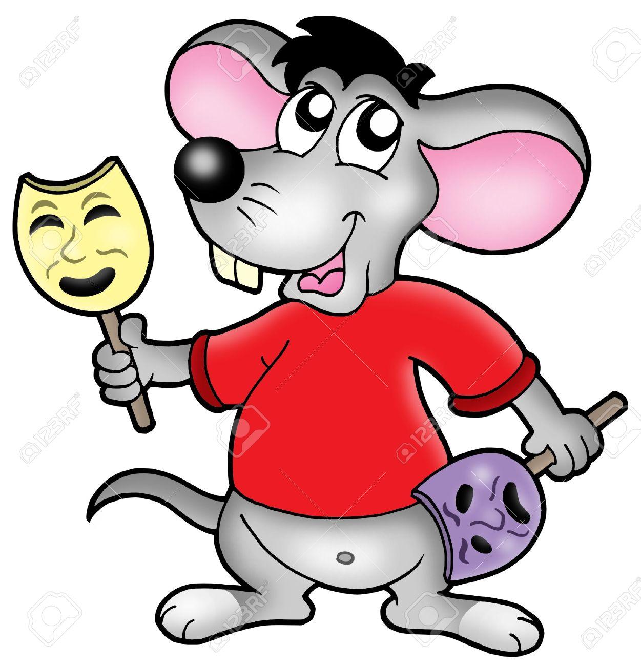 Ratón De Dibujos Animados Actor - Color Ilustración. Fotos, Retratos ...