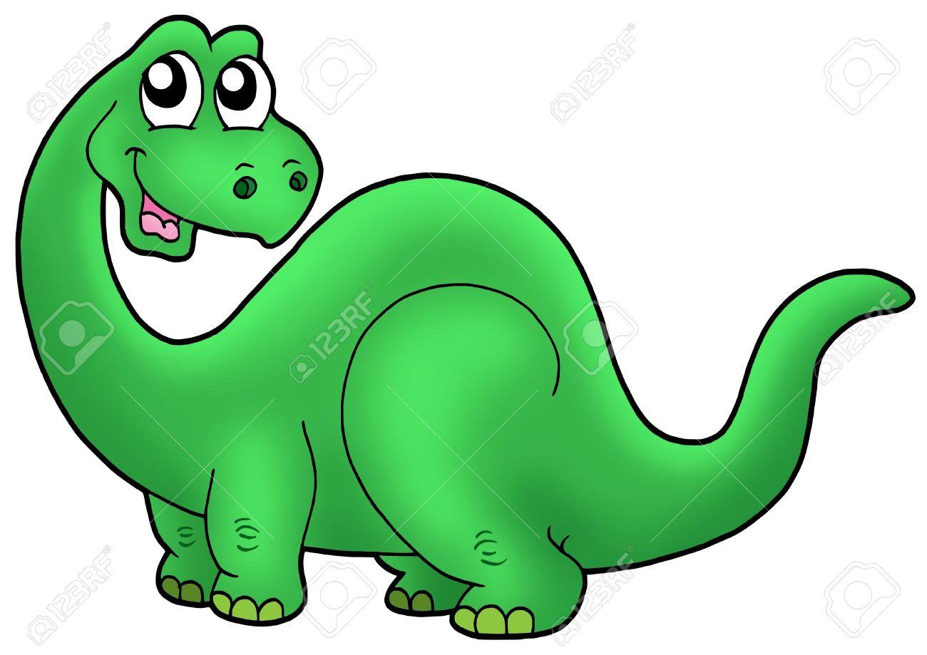 Cute Caricaturas Dinosaurio - Color Ilustración. Fotos, Retratos ...
