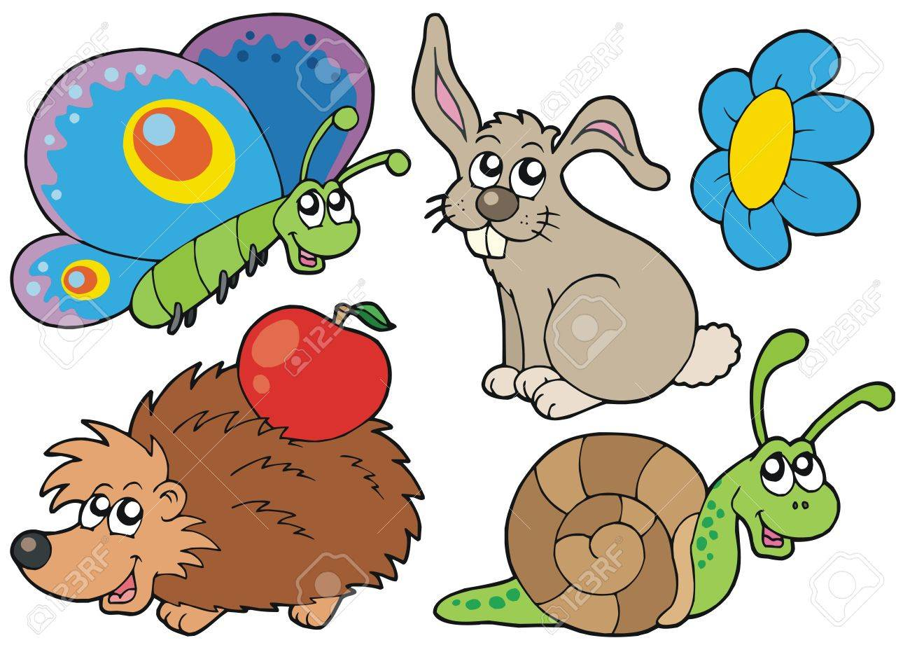 Small animals collection 7 - vector illustration. Stock Vector - 4700646