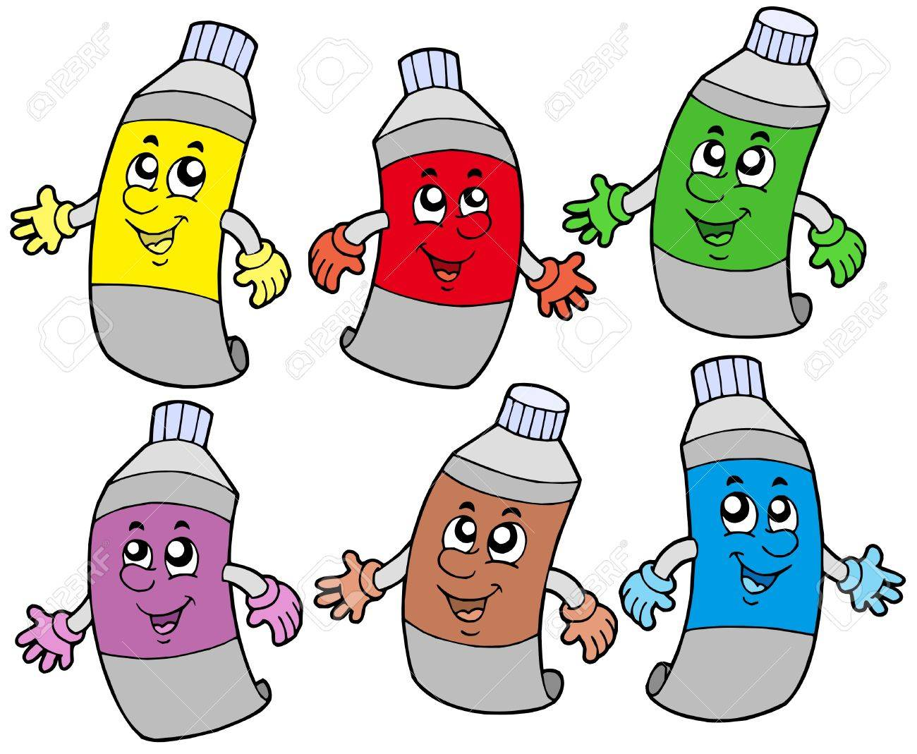 Various colors tubes - vector illustration. Stock Vector - 4791467