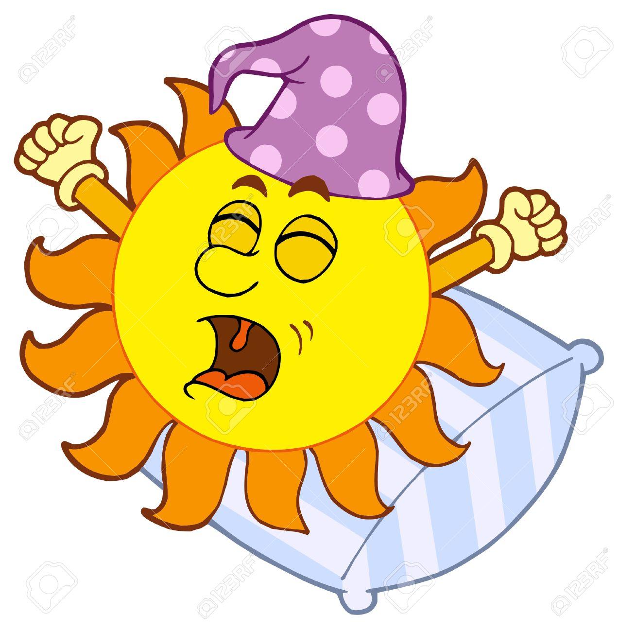 waking up sun vector illustration royalty free cliparts vectors rh 123rf com wake up call clipart wake up early clipart