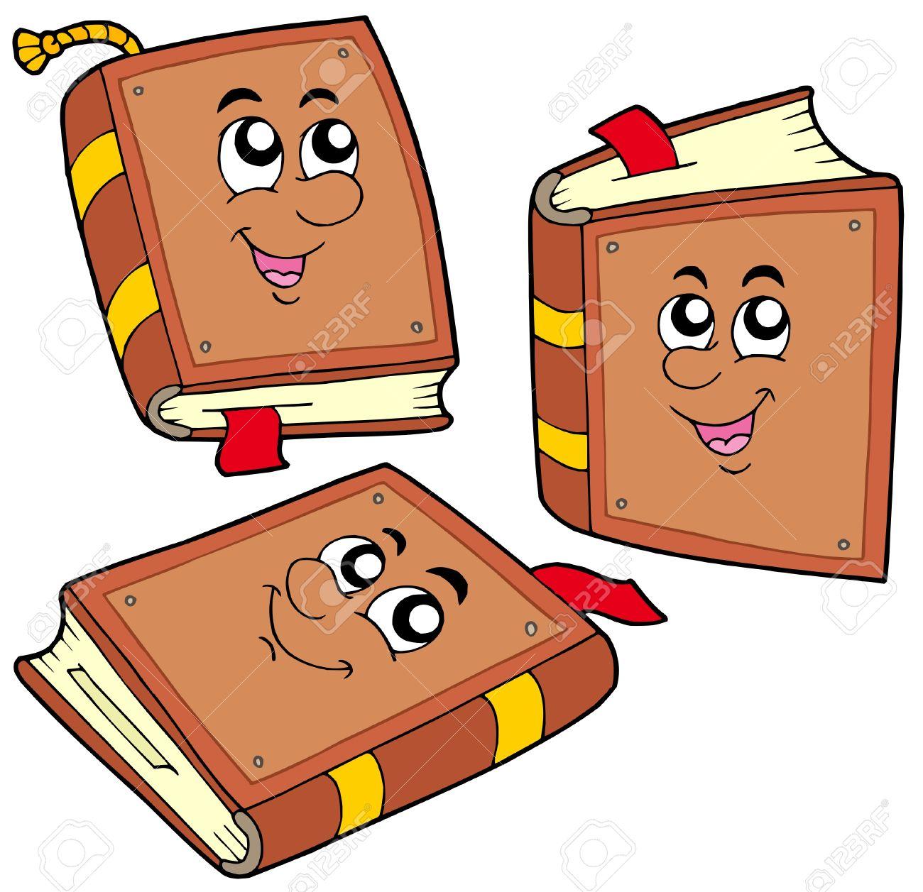 Cartoon books in various positions - vector illustration. Stock Vector - 4874149