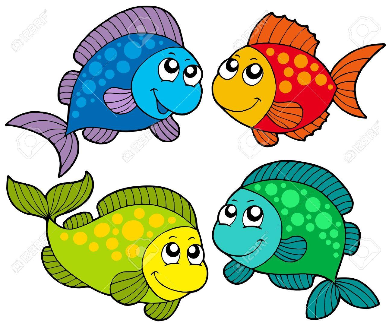 cute cartoon fishes collection vector illustration royalty free rh 123rf com cute cartoon fish clip art cute cartoon fish drawings