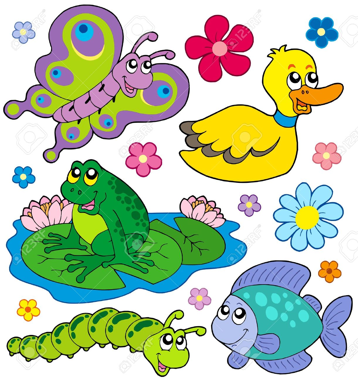 Small animals collection 8 - vector illustration. Stock Vector - 4946828