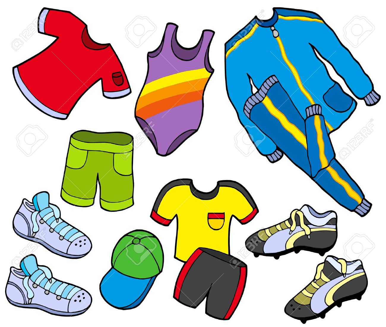 Resultat d'imatges de ropa deportiva dibujo