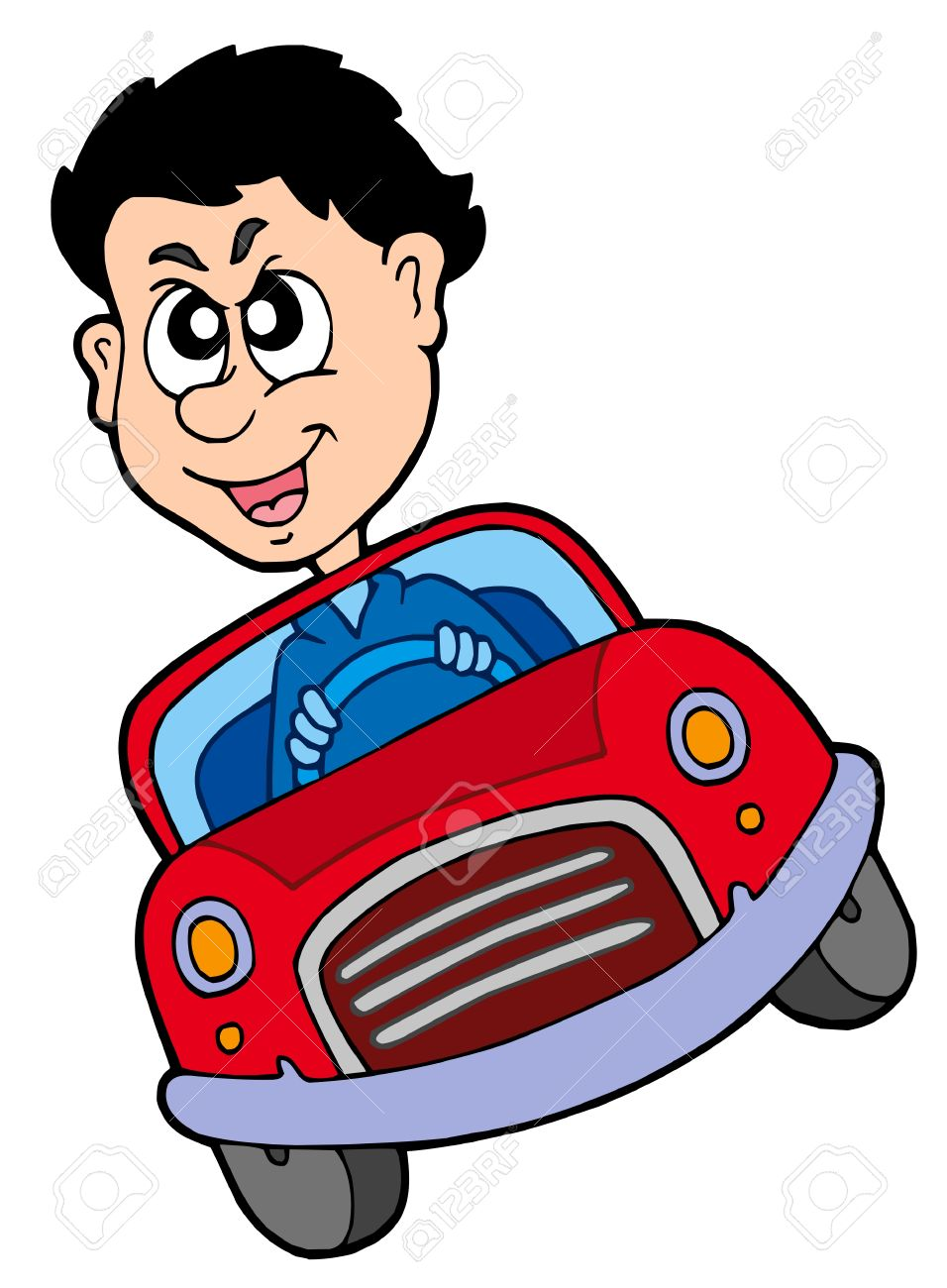 Cartoon Car Crazy Car Driver