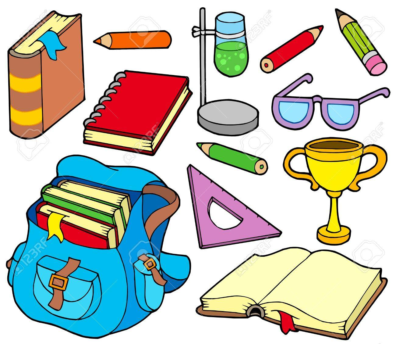 Back to school collection 4 - vector illustration. Stock Vector - 5337495