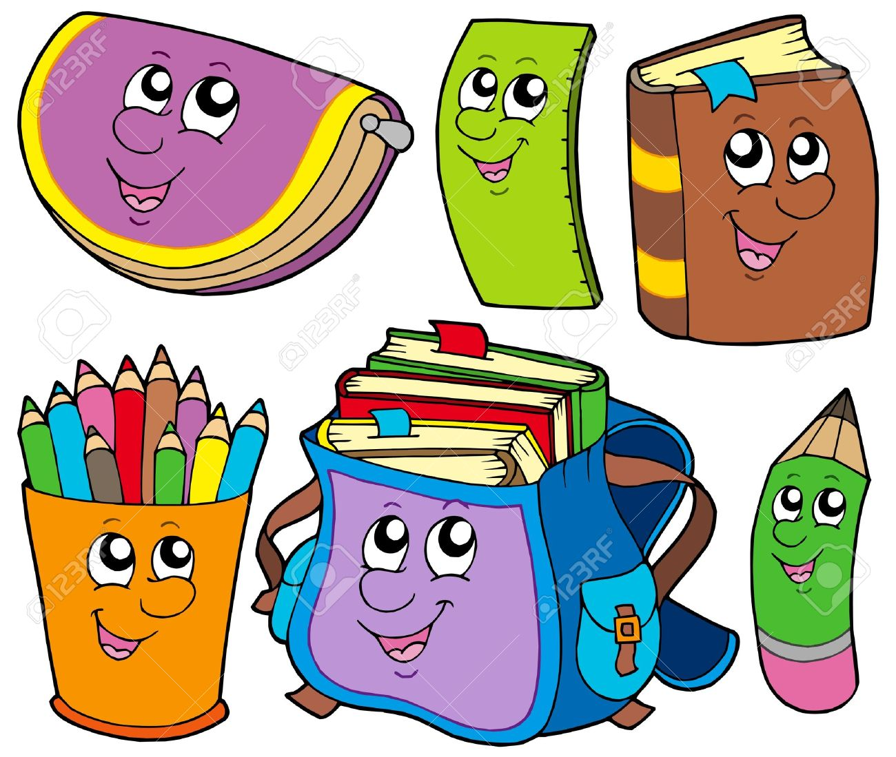 Back to school collection 5 - vector illustration. Stock Vector - 5337494