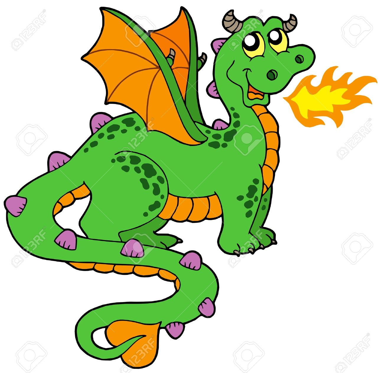 Pictures of Cartoon Dragons Breathing Fire Fire Breathing Dragon Cute