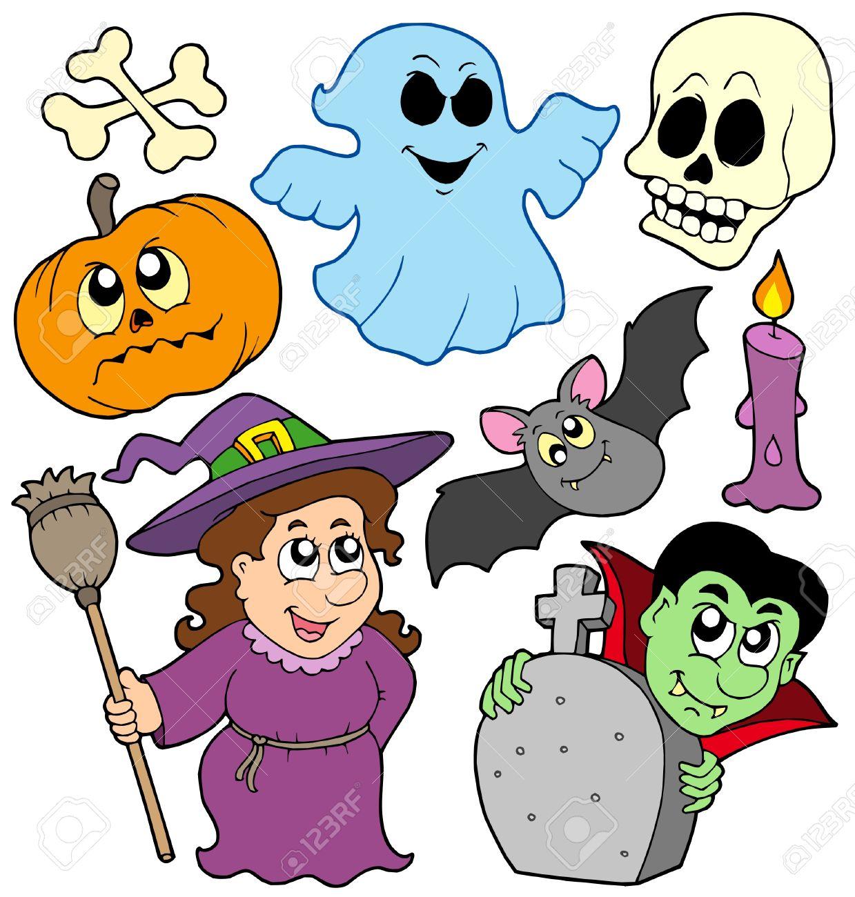 Dibujos animados Halloween colección , ilustración vectorial. Foto de archivo , 5492790