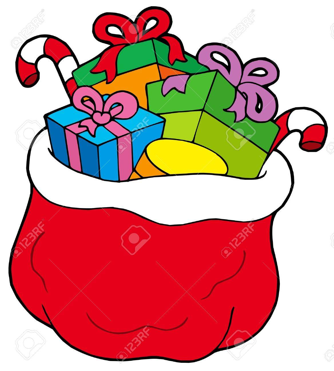 Christmas bag with gifts - vector illustration. Stock Vector - 5621152