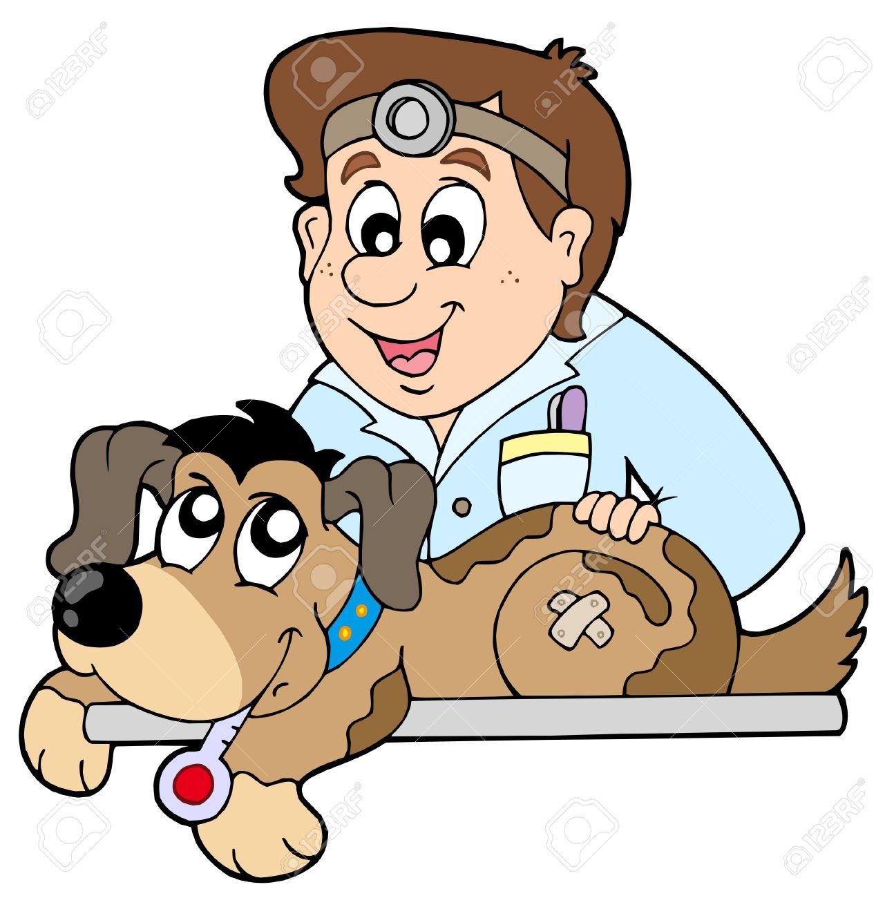 Perro En Veterinario - Ilustración Vectorial. Ilustraciones ...