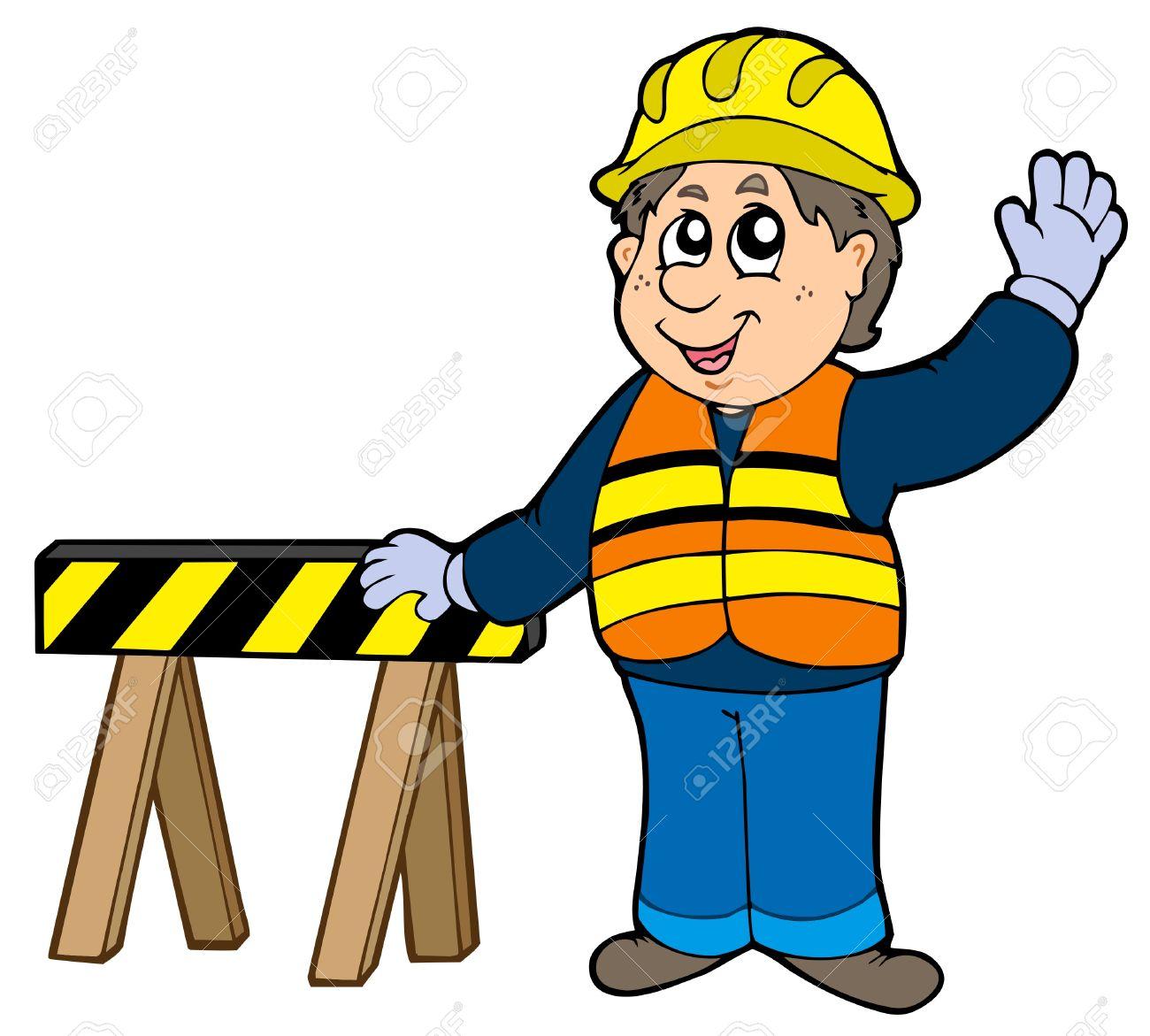 Cartoon construction worker - illustration. - 6839748
