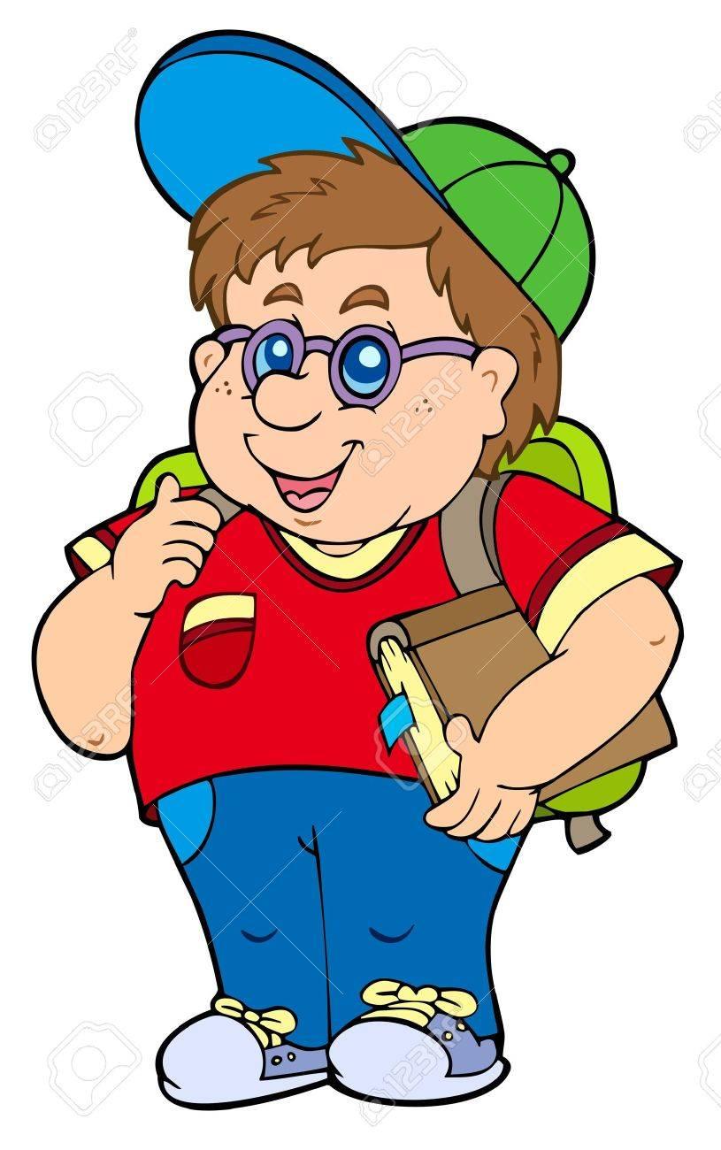 Fat school boy Stock Vector - 7469492