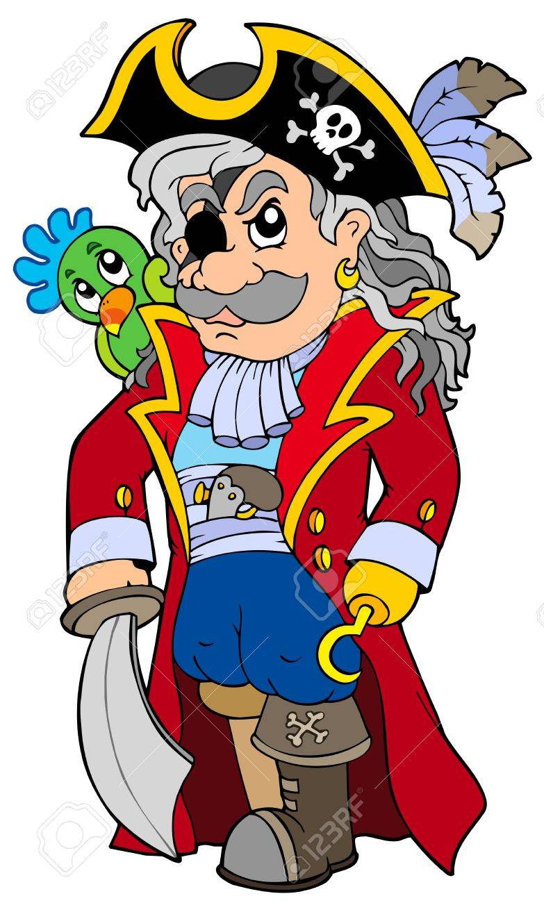 Cartoon noble corsair Stock Vector - 7554270