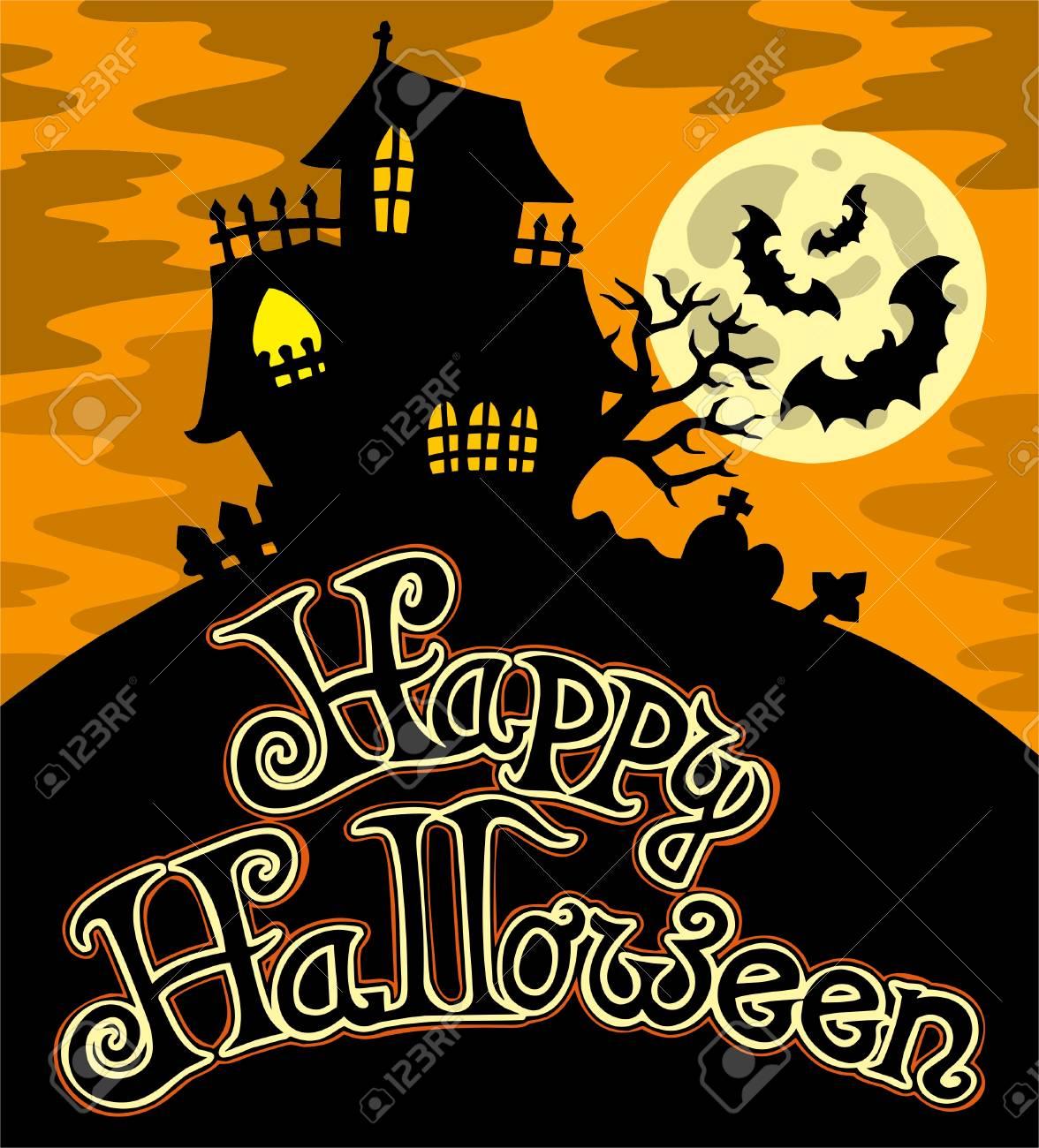 Happy Halloween theme 1 Stock Vector - 7554283