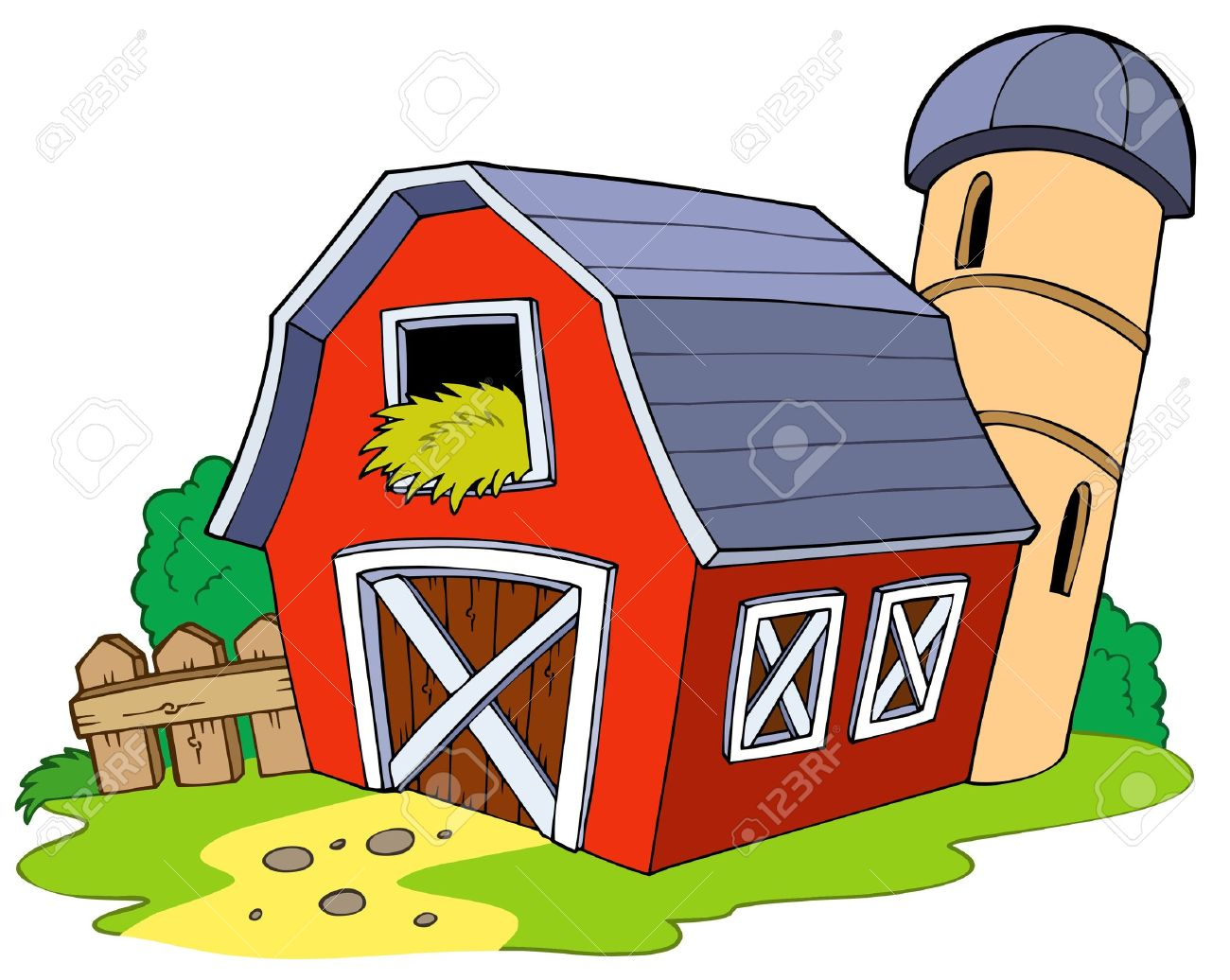 Cartoon Red Barn Royalty Free Cliparts Vectors And Stock