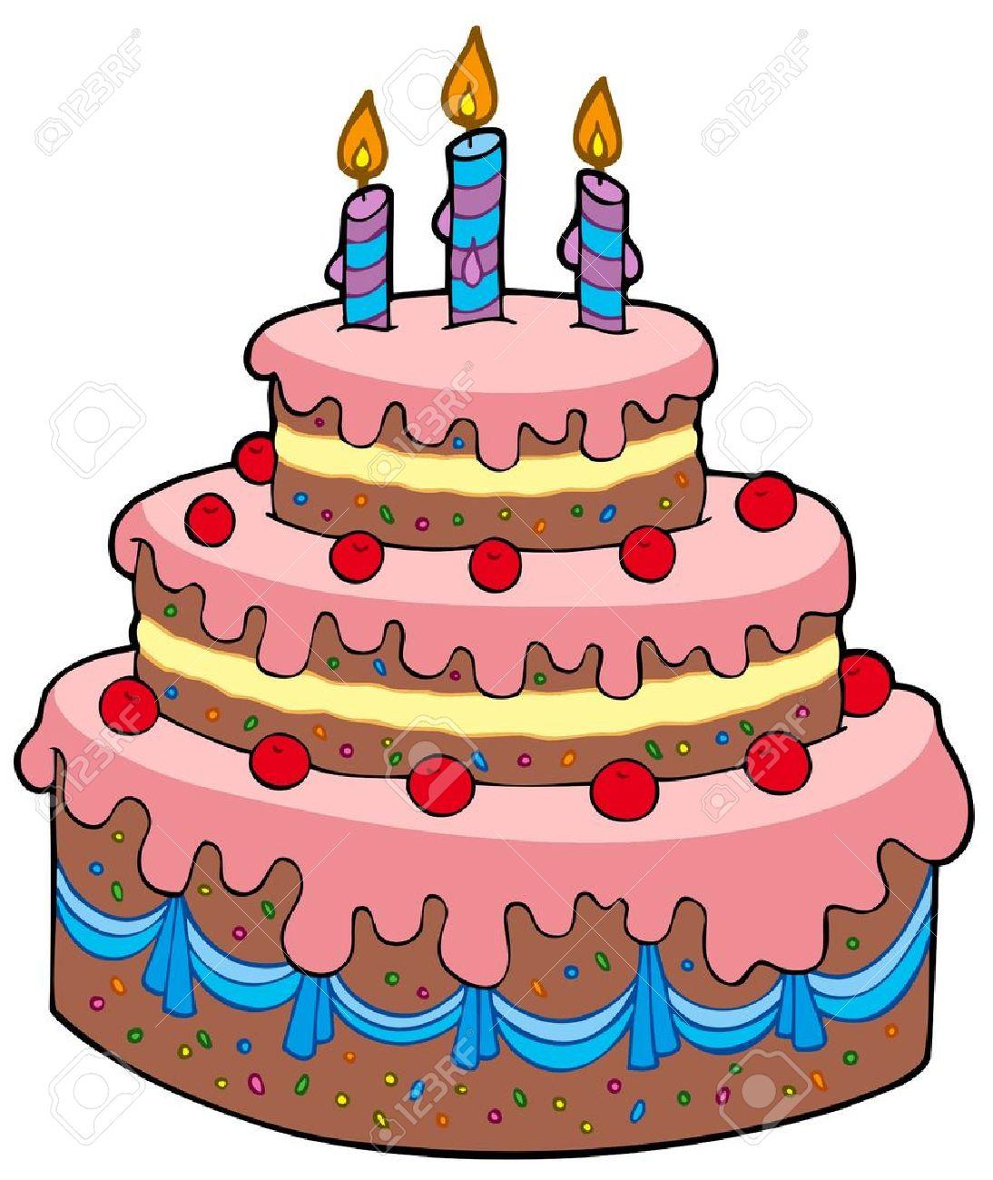 Geburtstag kuchen comic