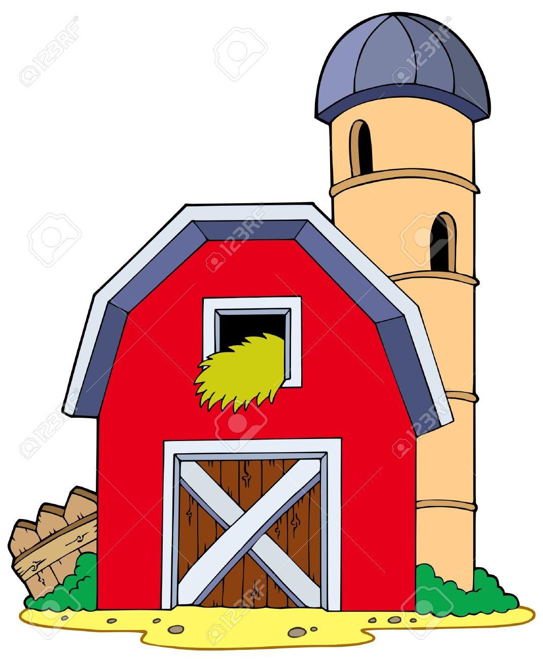 barn with granary illustration royalty free cliparts vectors