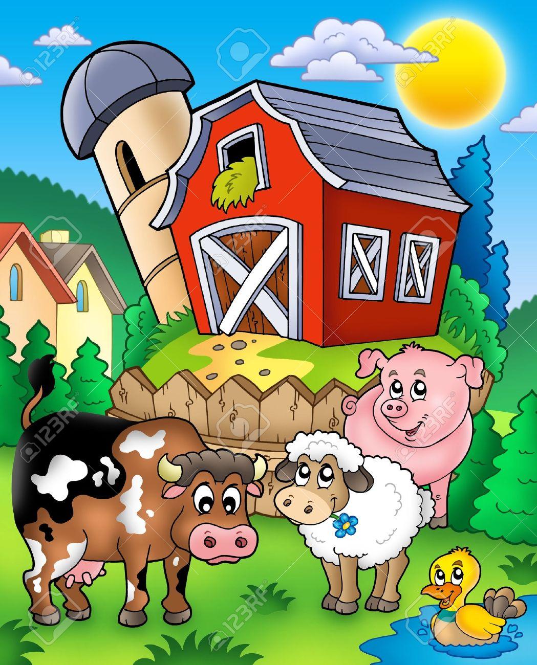 Farmyard Farm Animals Near