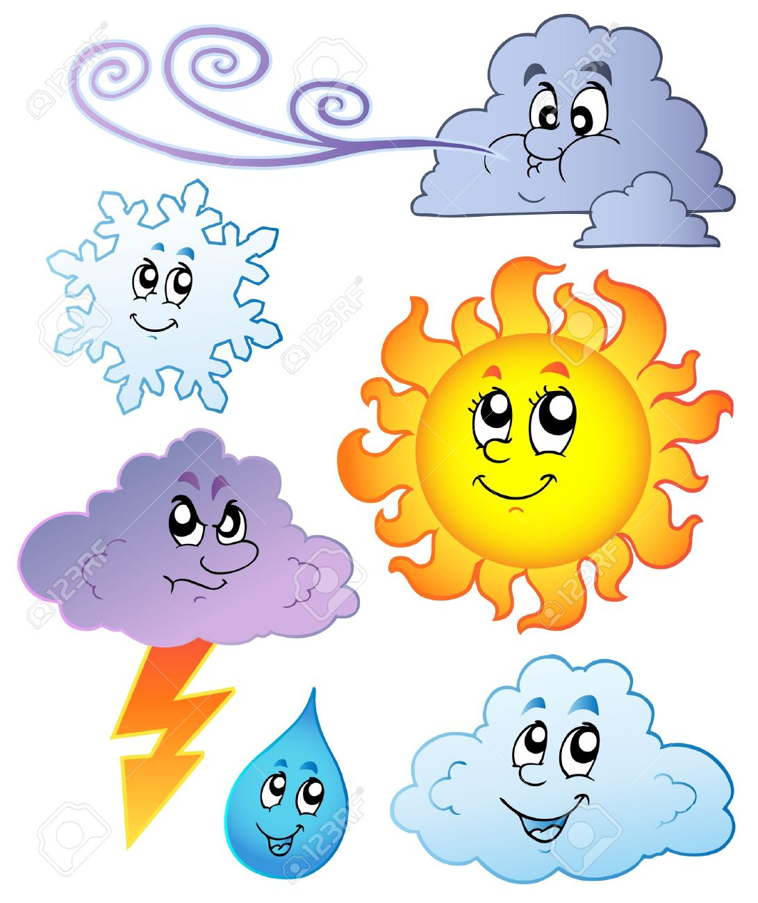Cartoon weather images -   illustration. Stock Vector - 8195497