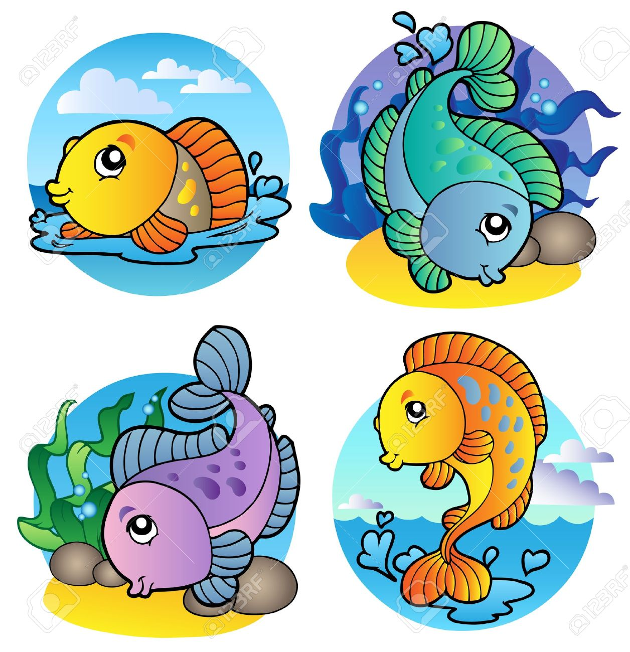 Freshwater fish clipart - Various Freshwater Fishes 1 Illustration Stock Vector 8266222
