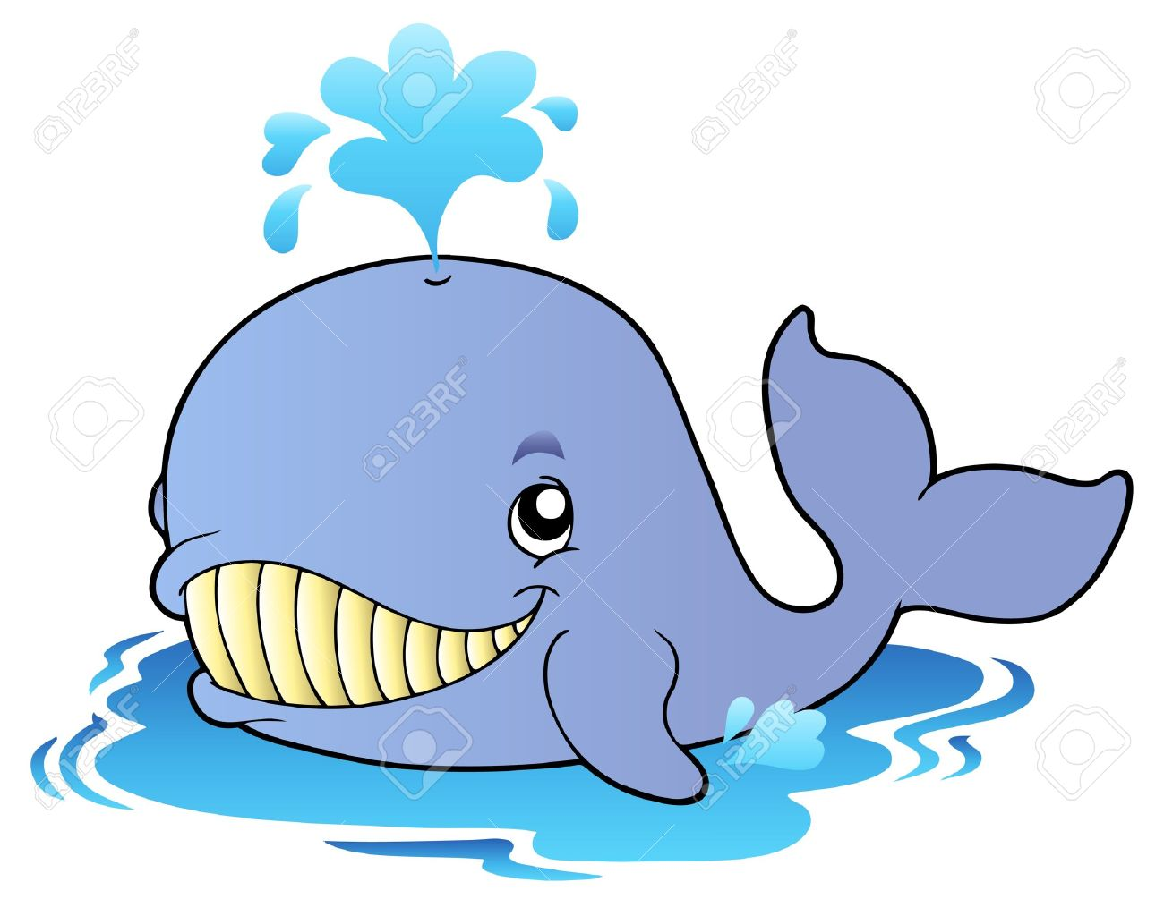 big cartoon whale stock vector 8433514