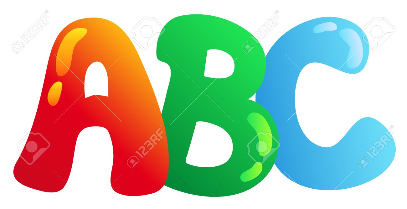 cartoon abc letters vector illustration stock vector 8528693