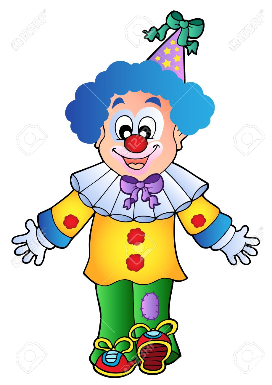 image of cartoon clown 1 vector illustration royalty free