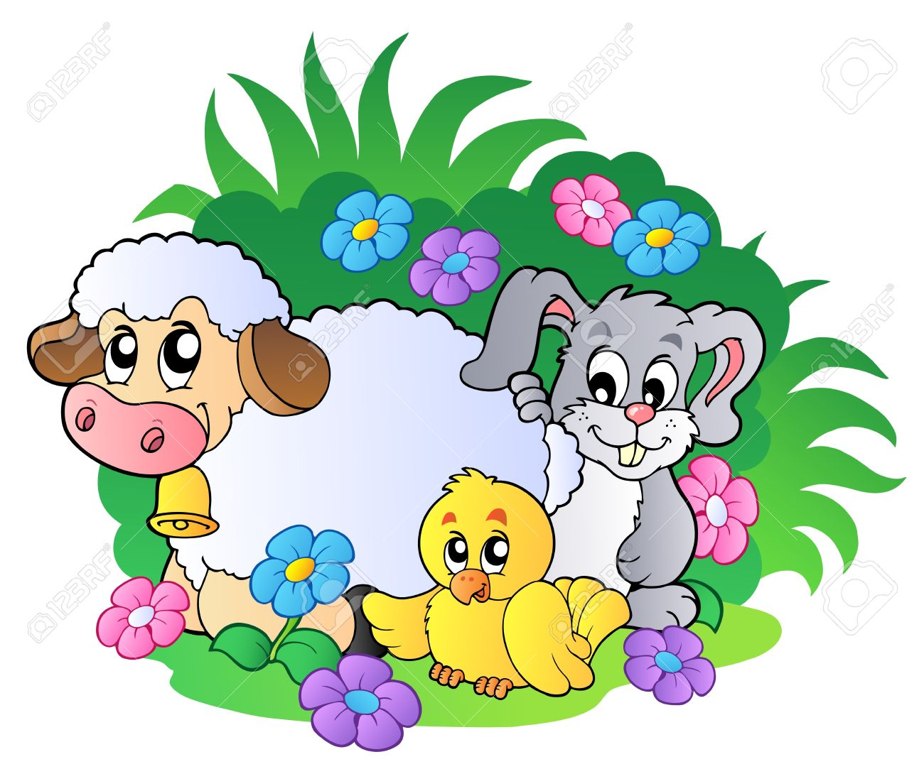 Group Of Spring Animals Royalty Free Cliparts Vectors And Stock Illustration Image 8799937