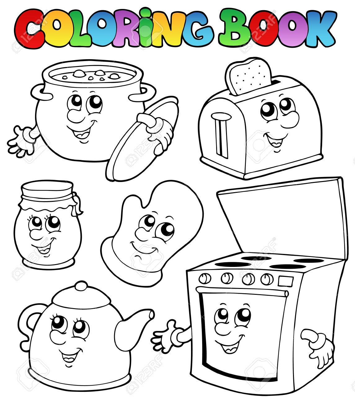 Kitchen Drawing Stock Images Royalty Free Images Vectors Coloring