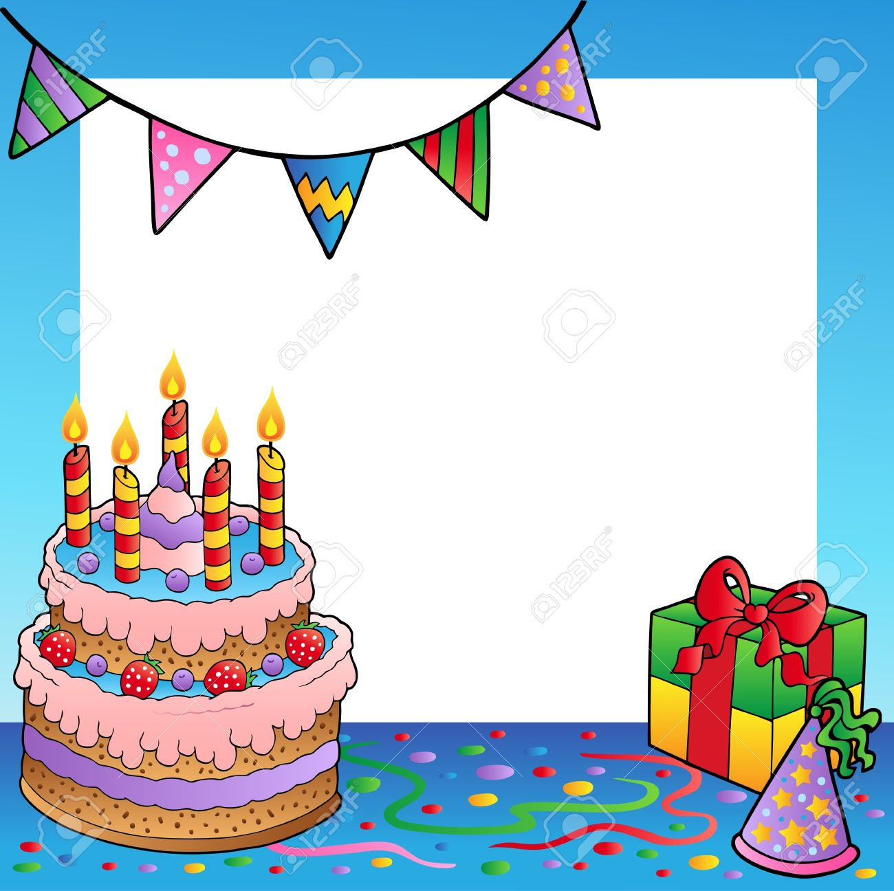 birthday theme Frame With Birthday Theme Royalty Free Cliparts, Vectors, And  birthday theme