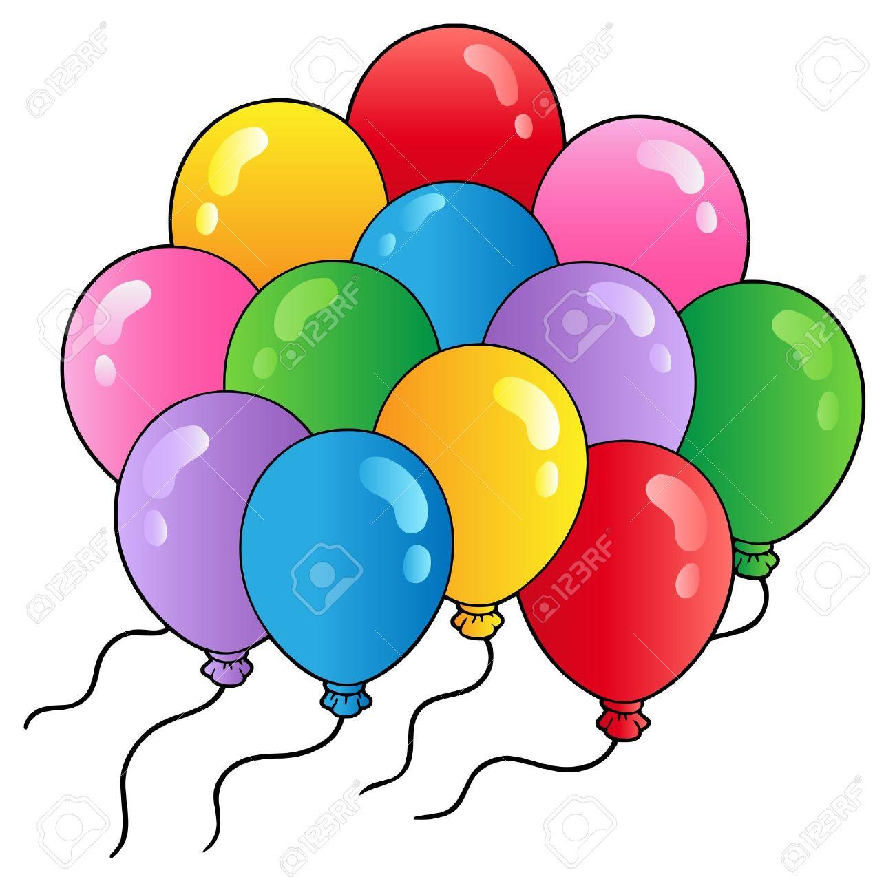 Groupe De Ballons De Dessin Anime Clip Art Libres De Droits