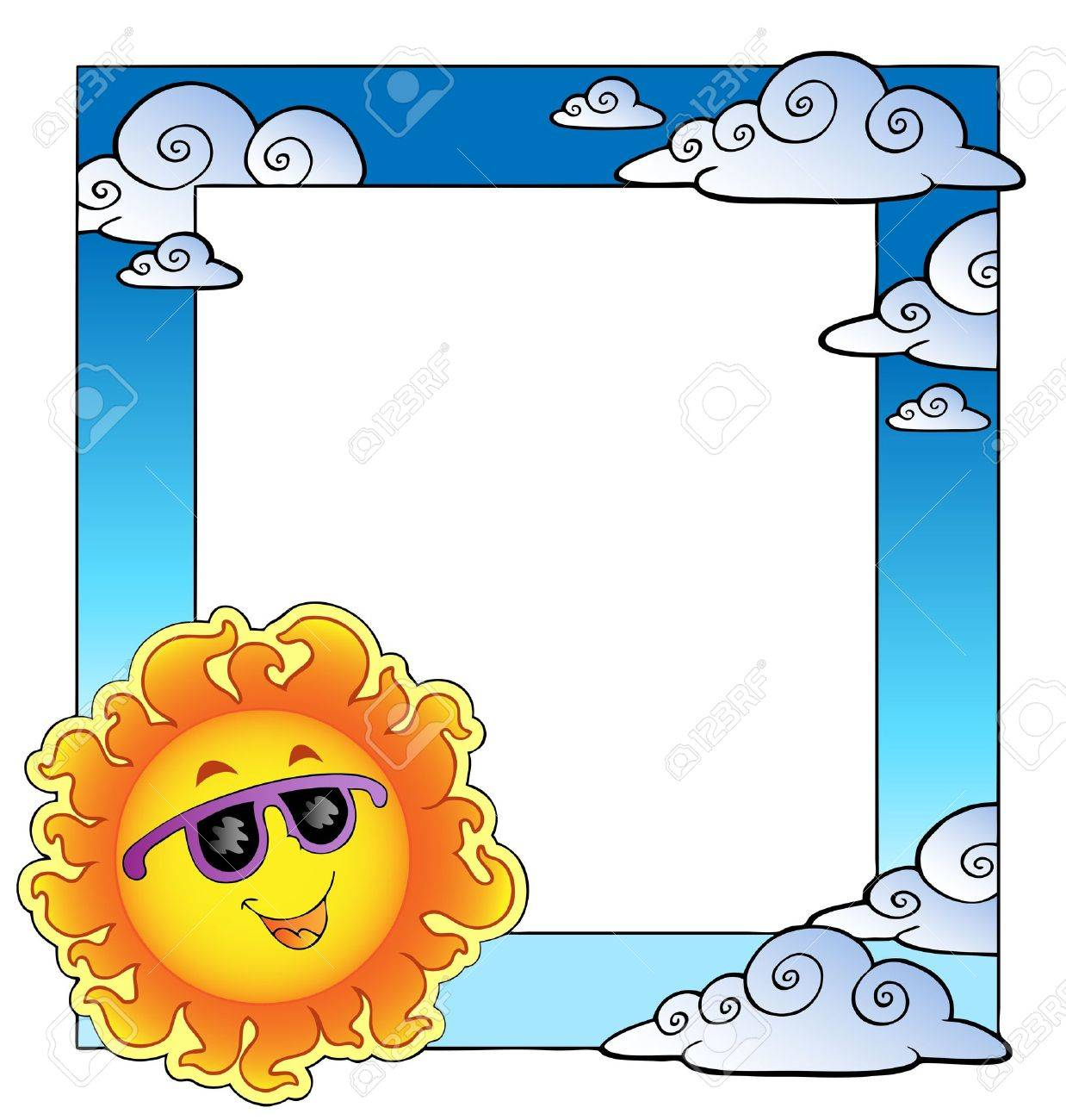 Frame with summertime theme Stock Vector - 9862771