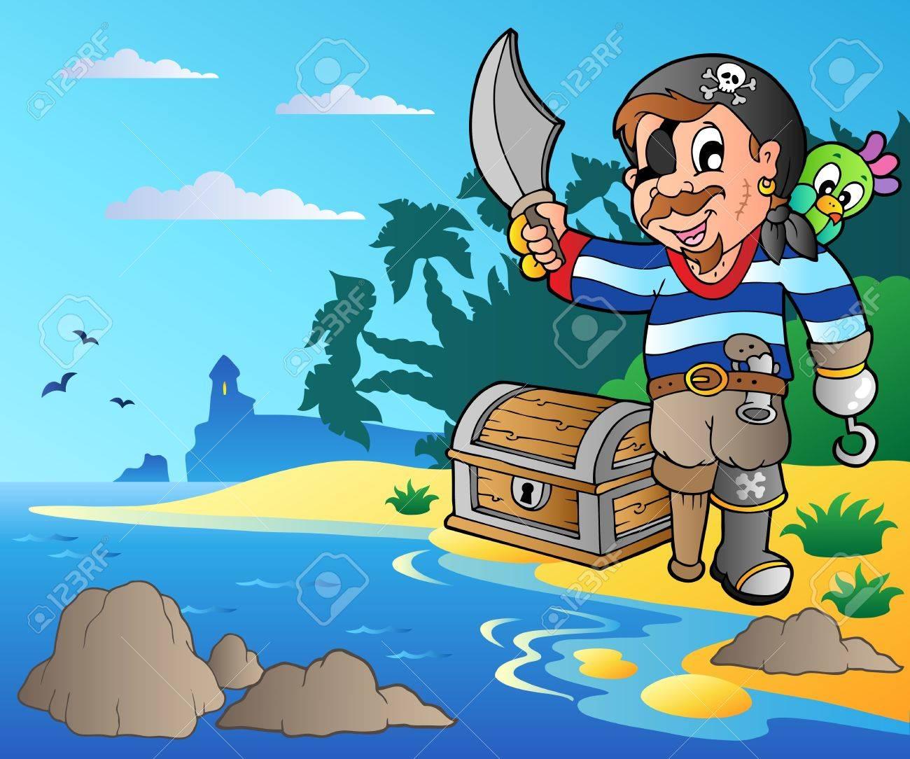 Cartoon Pirate 2 Vector