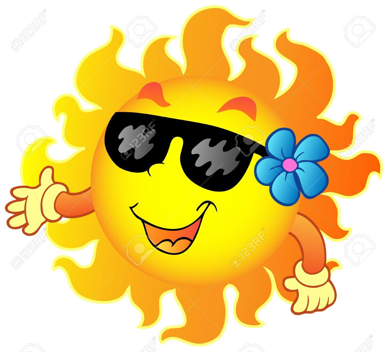 Happy Summer Sun 1 - Vector Illustration. Royalty Free Cliparts ...