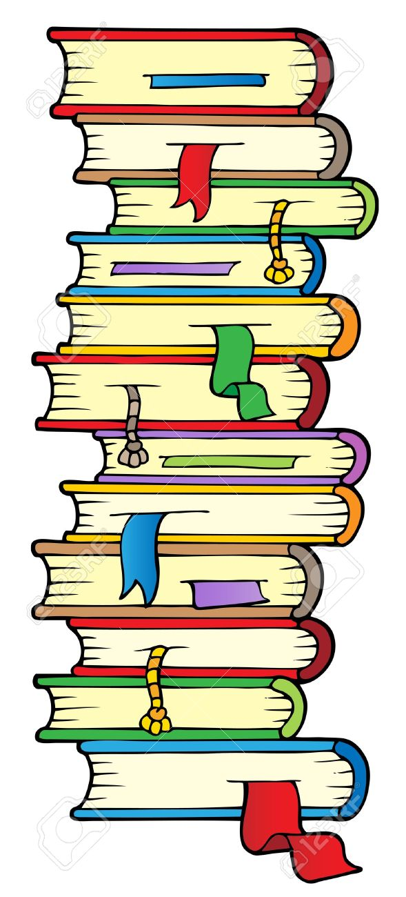 Big column of books Stock Vector - 10354192