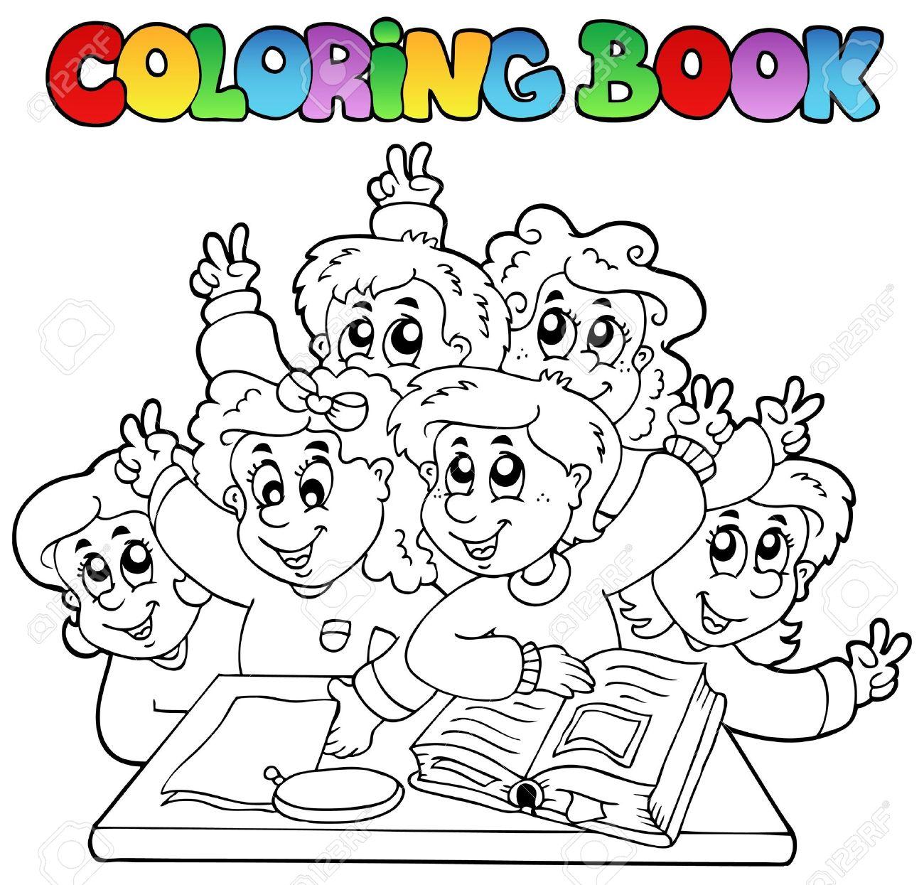 Coloring book school - Coloring Book School Cartoons Stock Vector 10354157