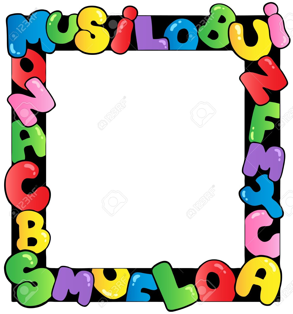 Frame With Cartoon Letters Royalty Free Cliparts, Vectors, And Stock ...