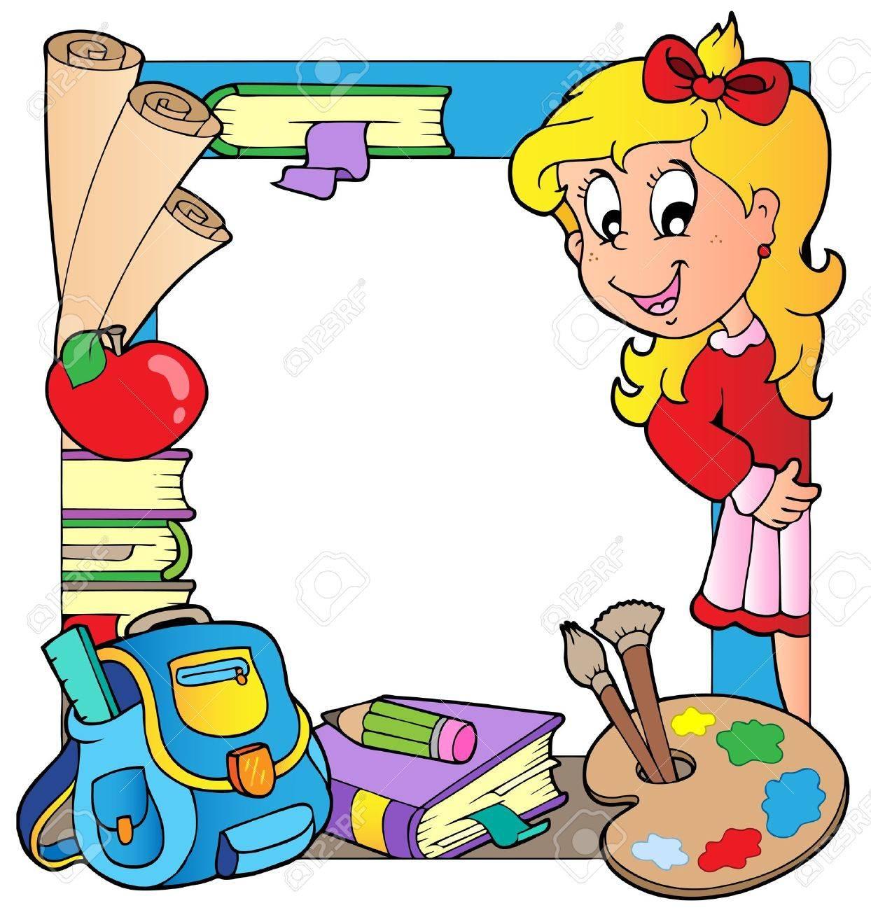 School theme frame - 10354189