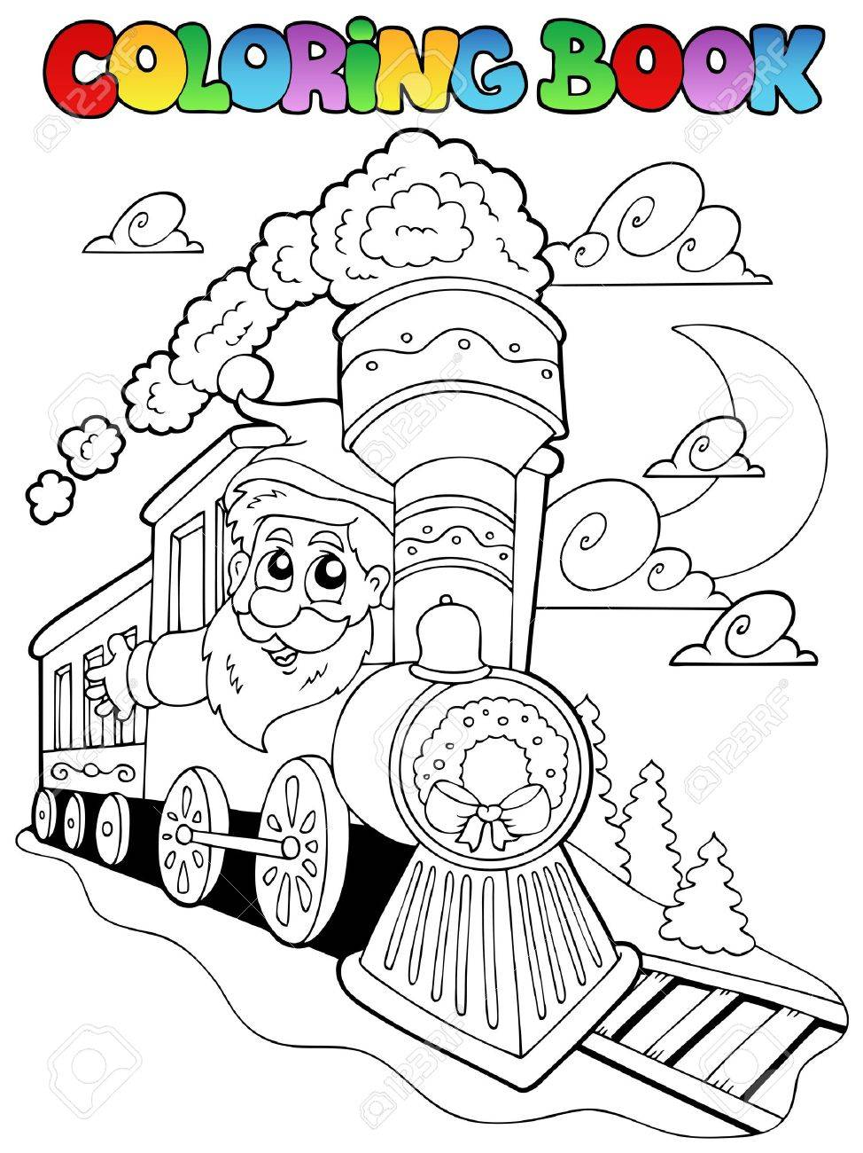 Coloring book Christmas topic  illustration. Stock Vector - 10780691