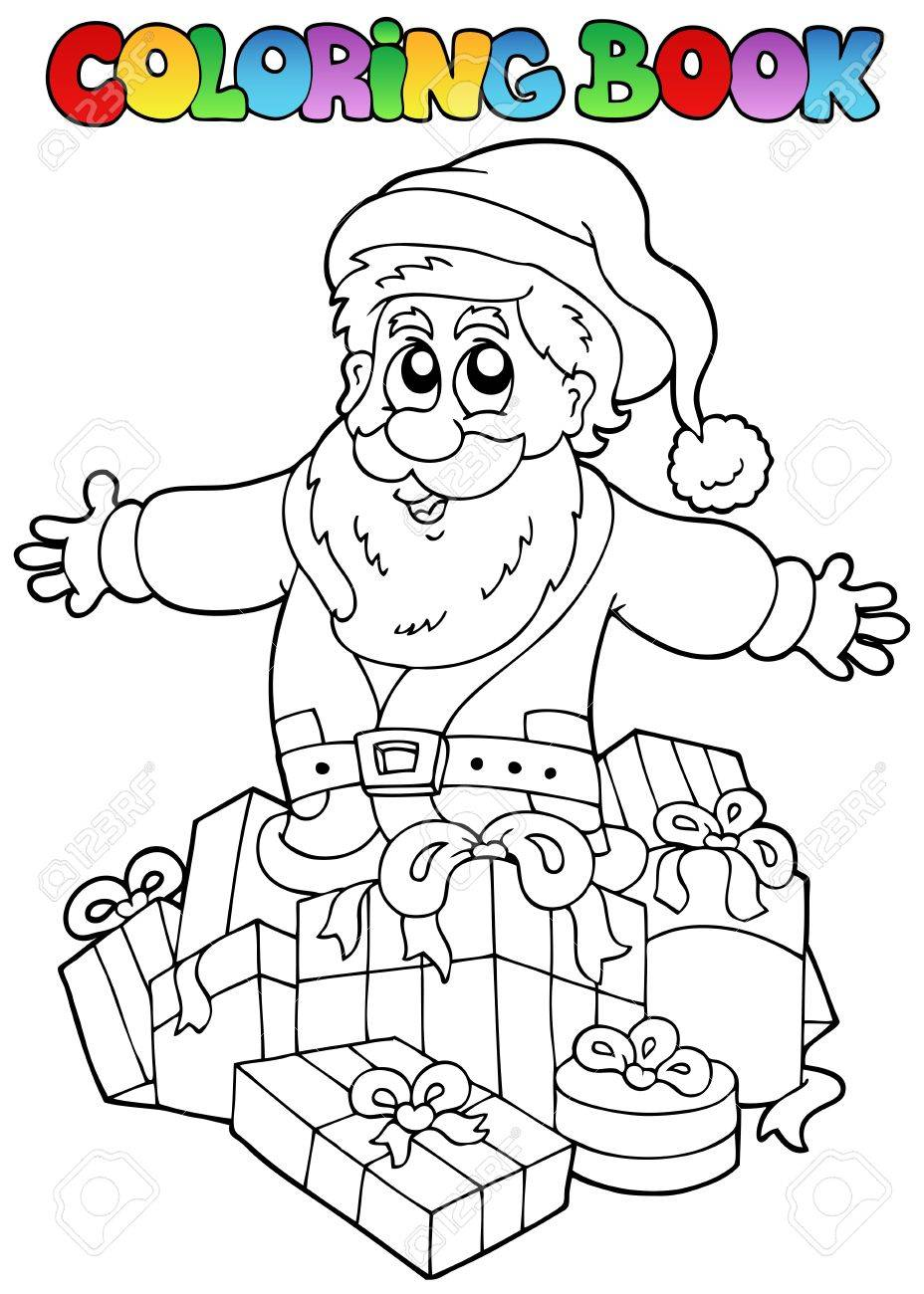 Coloring book Christmas topic illustration. Stock Vector - 10780700
