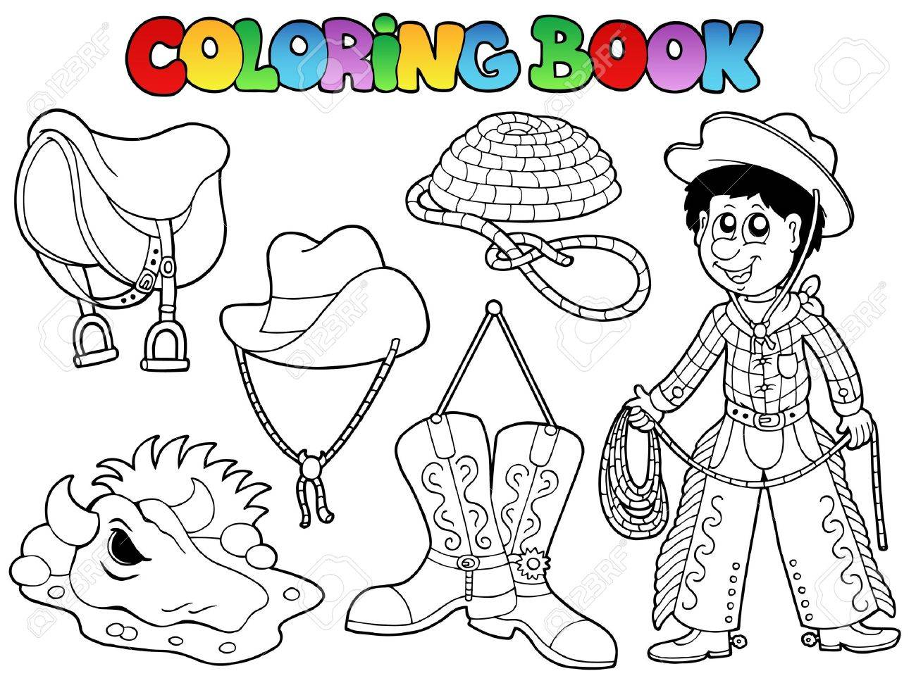 coloring book country collection illustration royalty free