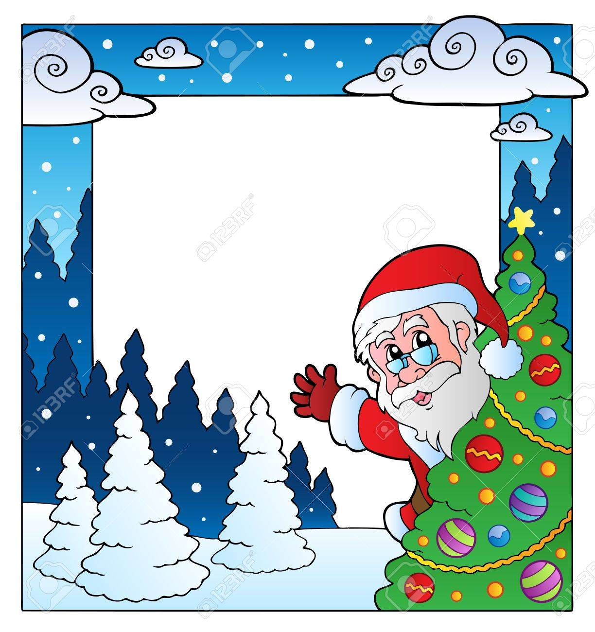 Christmas theme frame  illustration. Stock Vector - 11505351