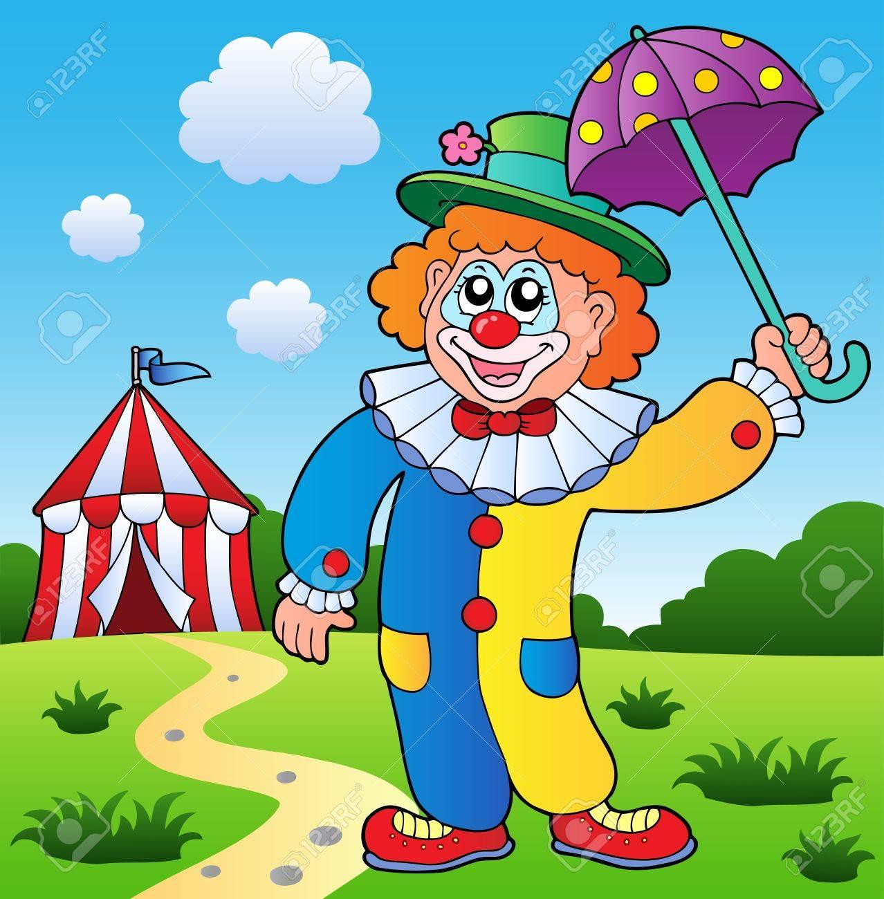 Clown theme picture 4 - vector illustration. Stock Vector - 11654774