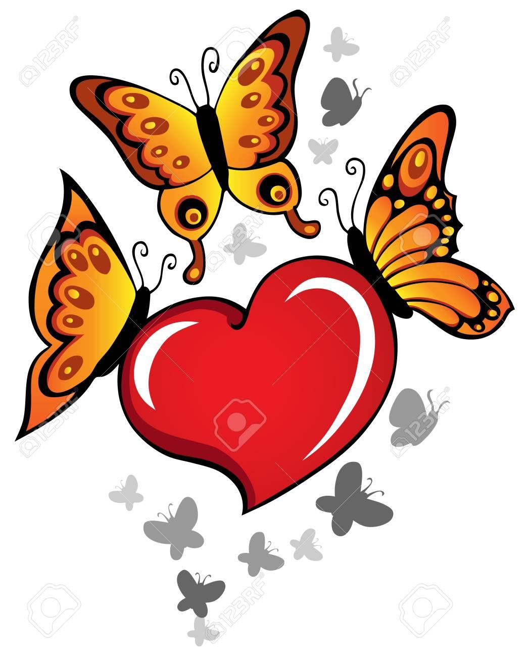 Heart theme image 6 - vector illustration. Stock Vector - 12165834