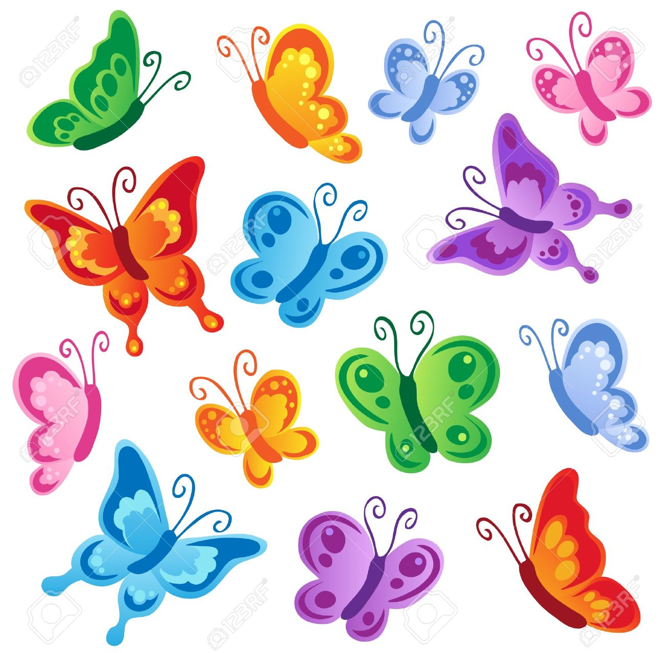 25,136 Butterfly Cartoon Stock Vector Illustration And Royalty ...